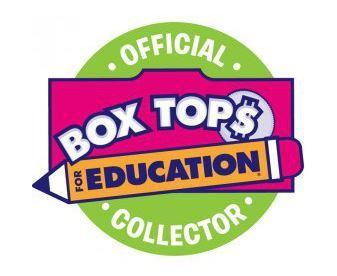 Boxtops for Education logo, green circular background with red inset box and yellow pencil in front