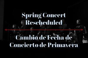 Spring Concert Date Change