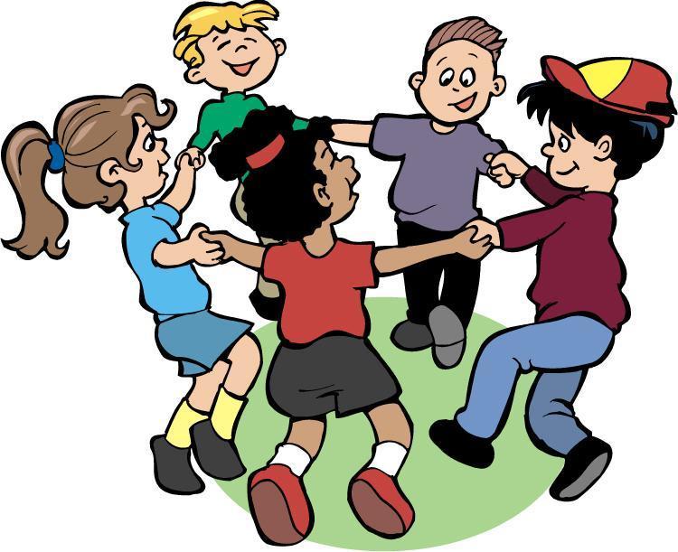 cartoon kids in a circle
