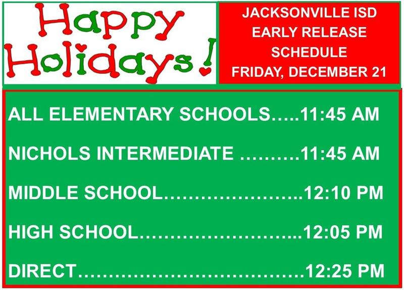 early release times for all campuses
