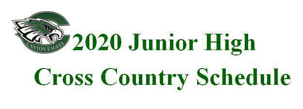 Junior High Cross Country Schedule