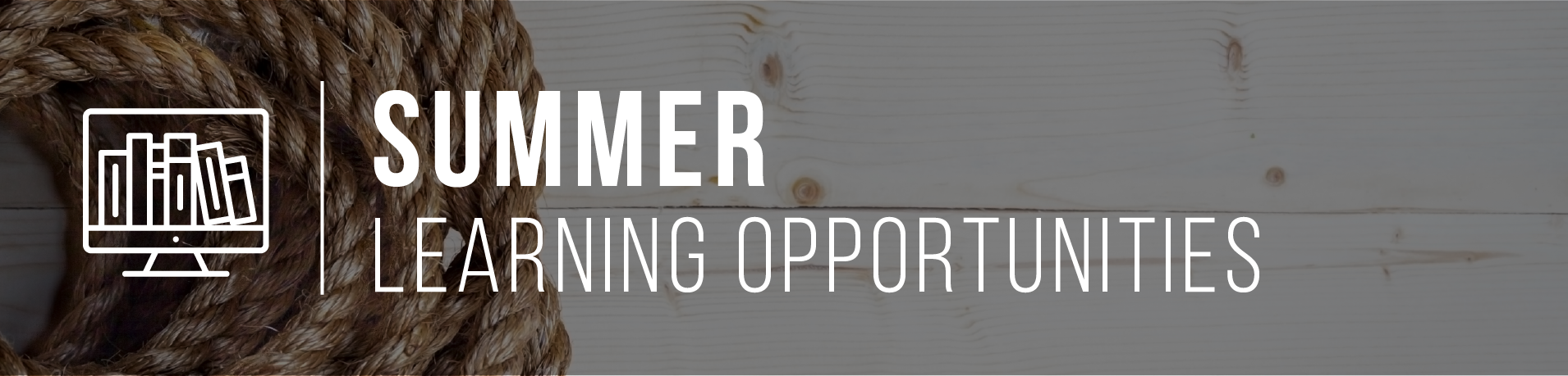 Summer Learning Opportunity Banner