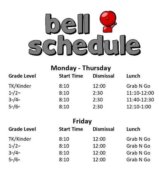 CRC Bell schedule