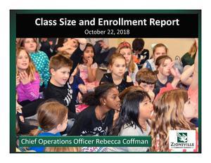 class sizes & enrollment report