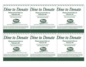 Dine to Donate Coupon