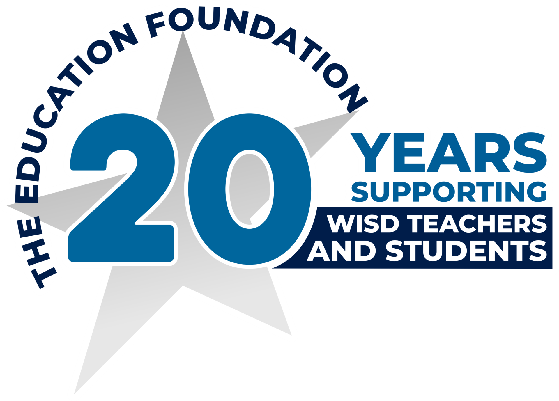 WISD Education Foundation 20 year logo