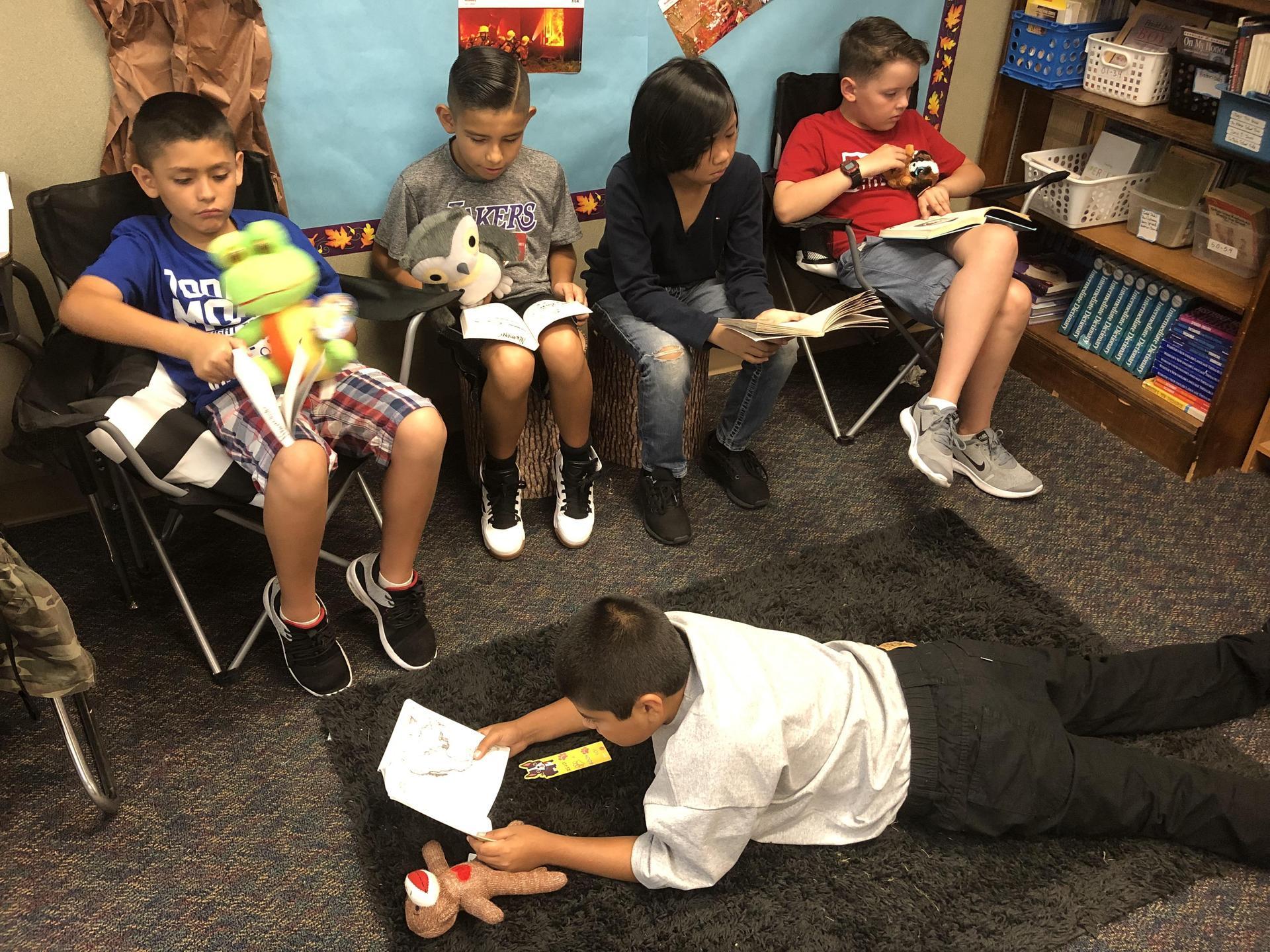 Photo of boys reading