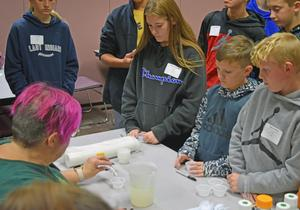 Students at STEM Day.