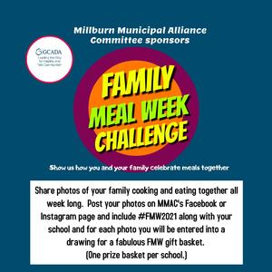 Family Meal Week Challenge poster