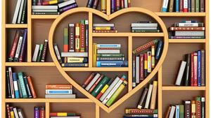 Heart Shaped Library Book Section
