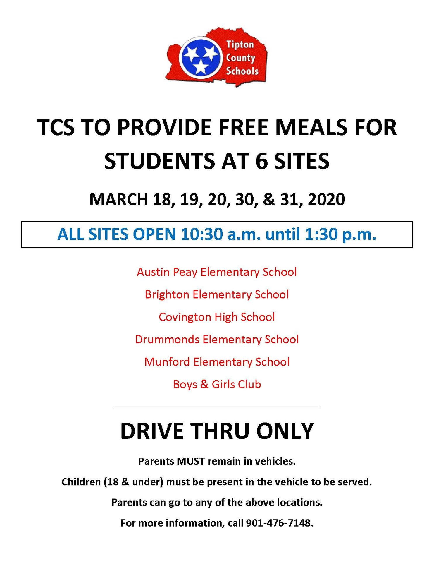 TCS provides free meals