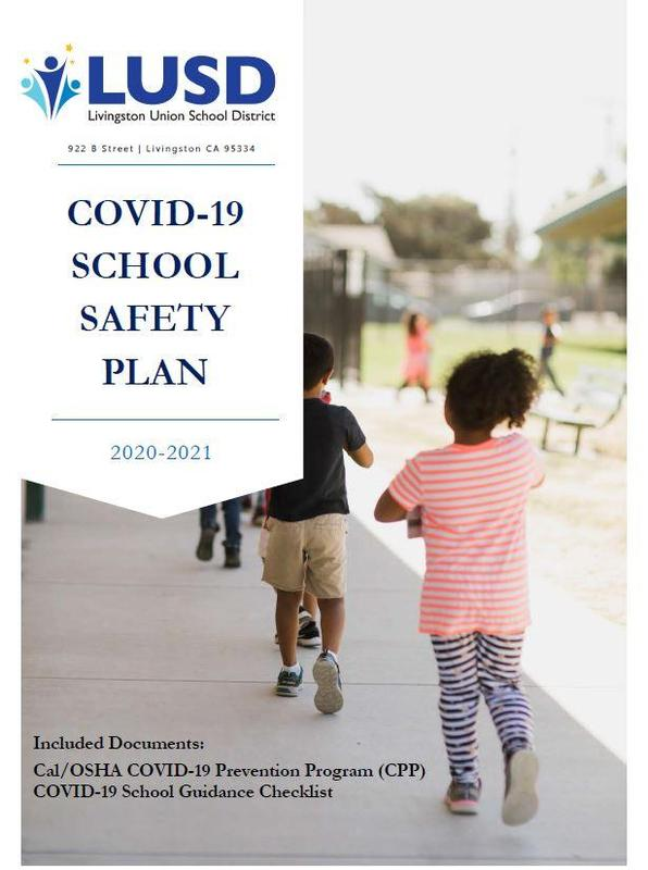 COVID-19 School Safety Plan Cover Page