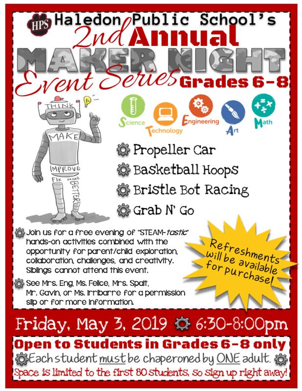 Maker Night Flyer- 2018-19- Grades 6-8.png