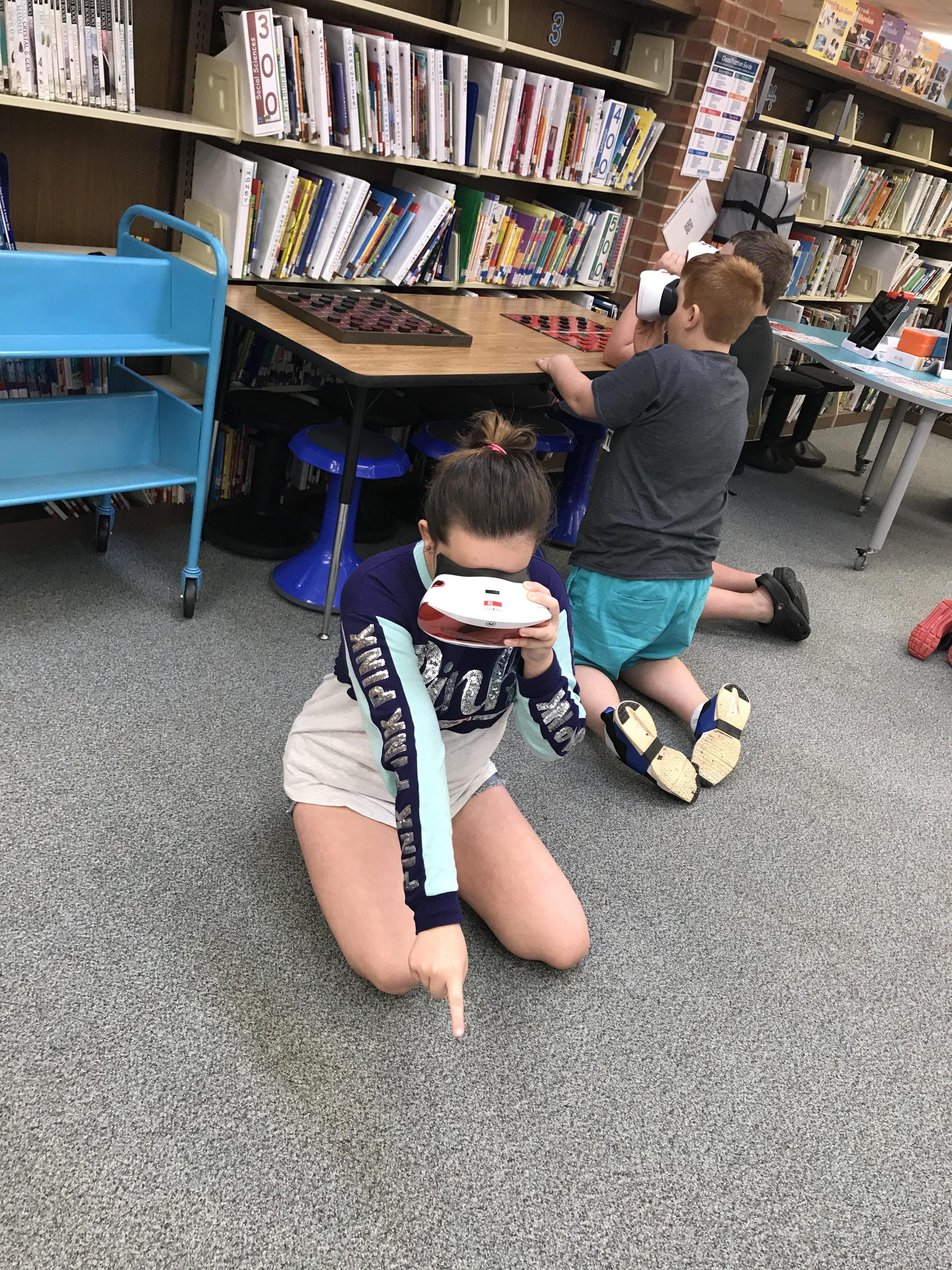 Image of Class using VR goggles