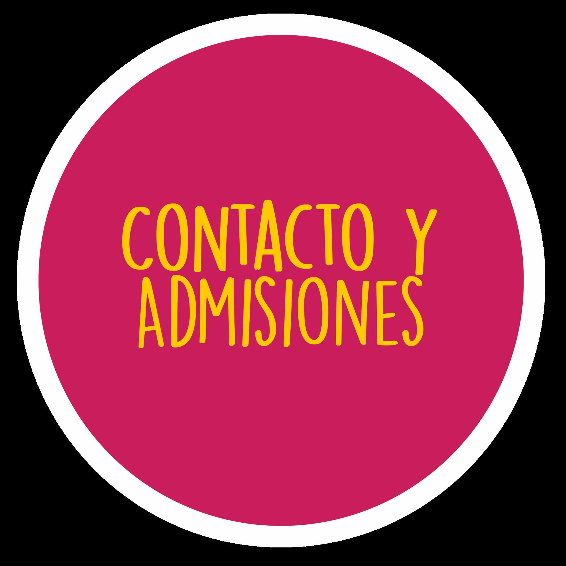 botón de contacto y admisiones