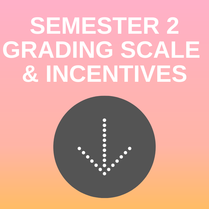 NEW SEMESTER 2 GRADING SCALE & INCENTIVES Featured Photo