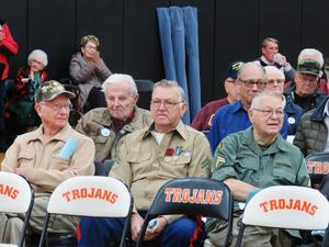 Veterans are honored at the annual TKHS and community program.