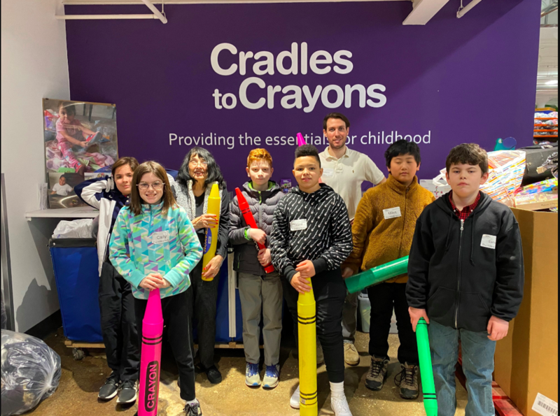 Middle School Students visit Cradles to Crayons Featured Photo