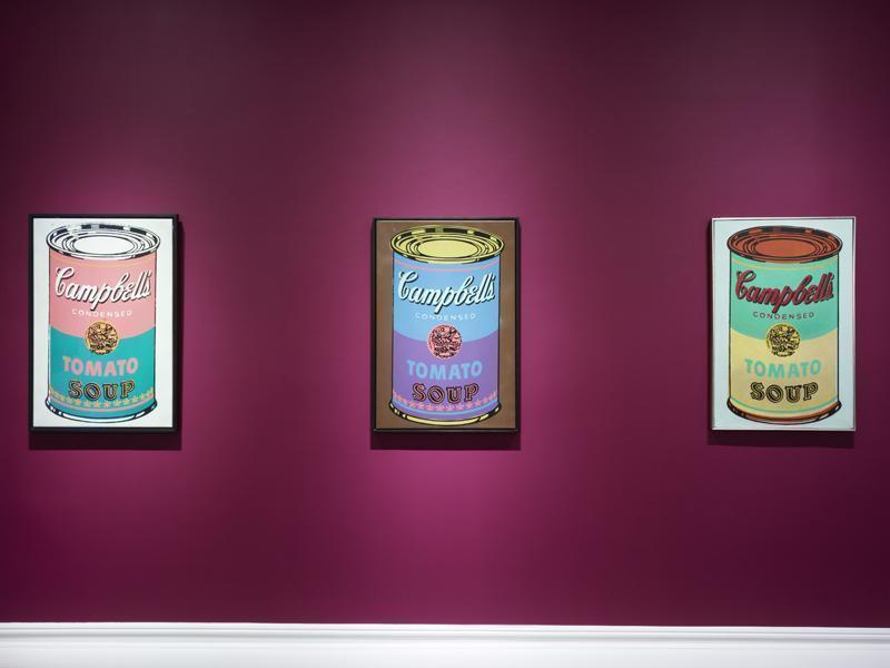 Warhol Colored Campbell's soup cans