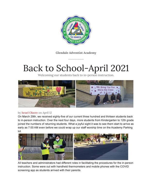 Back to School April 2021 Featured Photo