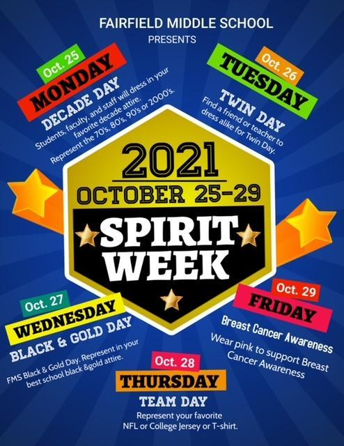 list of events for spirit week