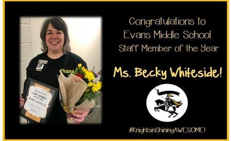 EMS Staff Member of the Year Ms. Whiteside