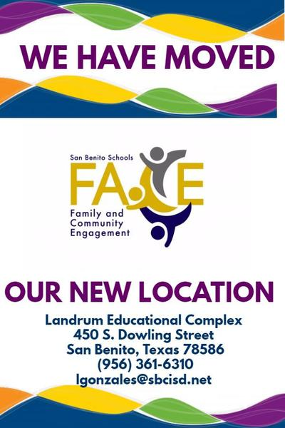 New FACE Department Location
