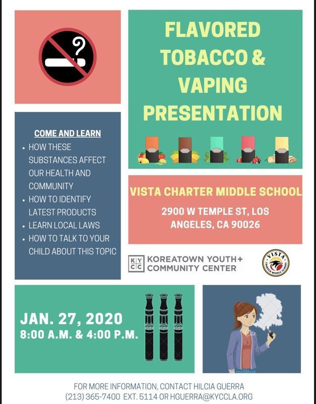 flavored tobacco & vaping presentation flyer