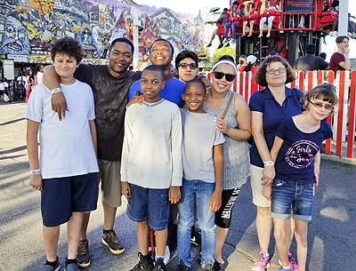 Residential students at Rye Playland