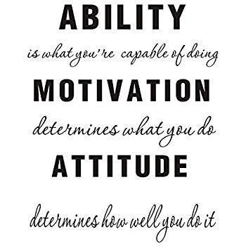 motivation attitude