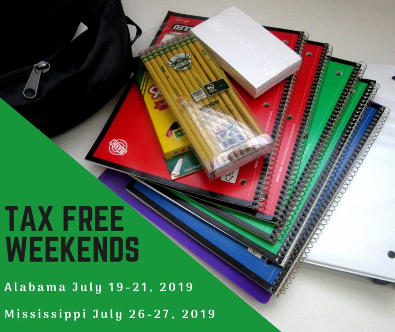 Tax Free Weekends
