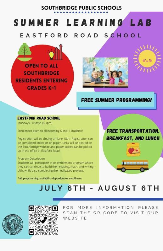 Flyer for summer programs - QR code links to more information