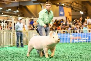 Photo of Bret Carter with his barrow at the HLS&R