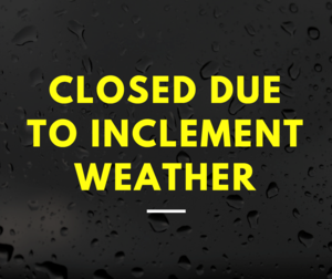 WTSD closed due to inclement weather