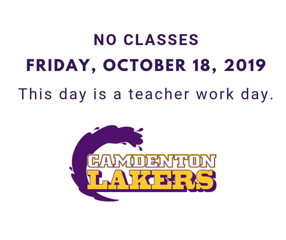 No classes on Oct. 18th