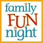 square that says family fun night