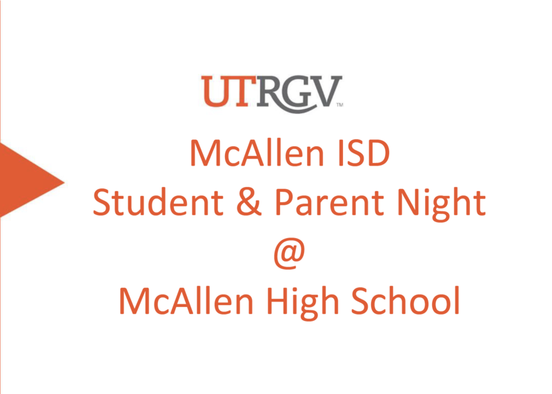 UTRGV Student and Parent Night
