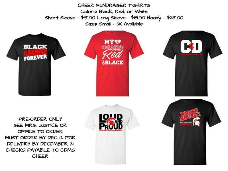 Cheerleading Shirt Order Display
