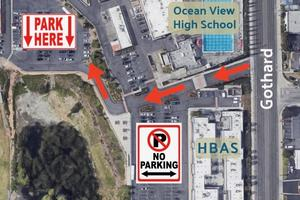 Parking Lot Closure Map