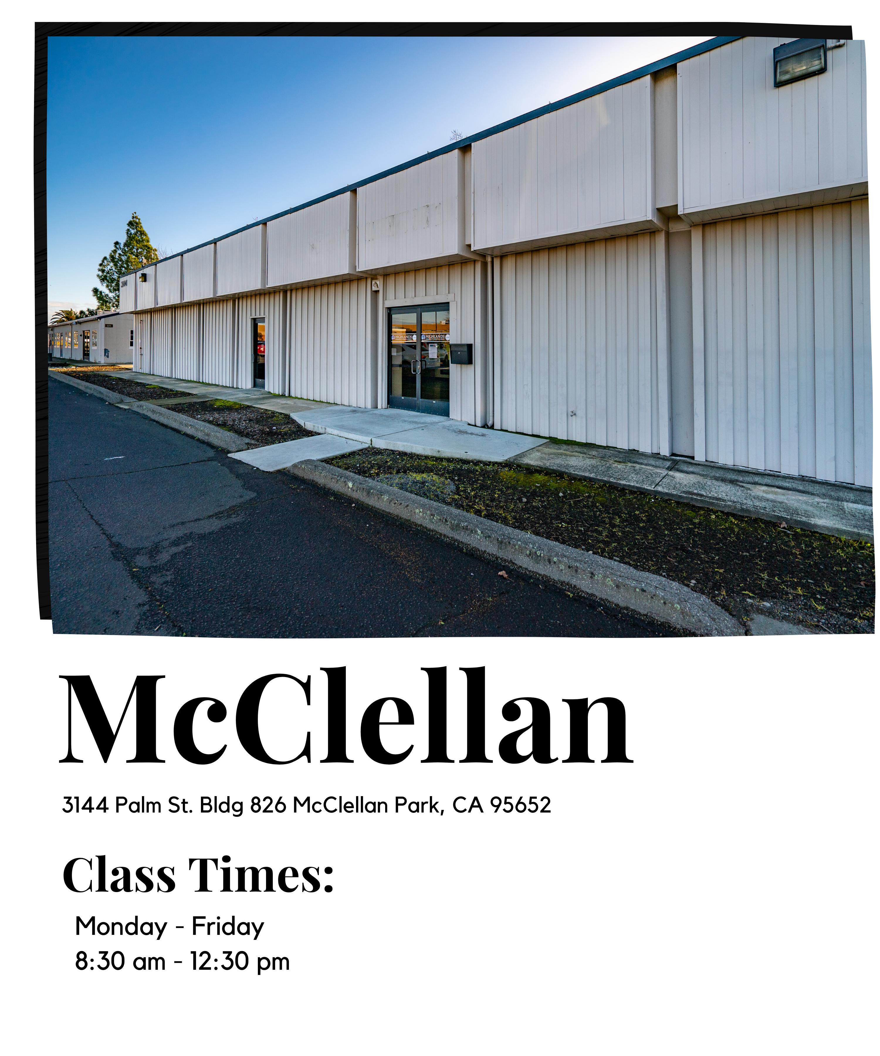 McClellan Class Times
