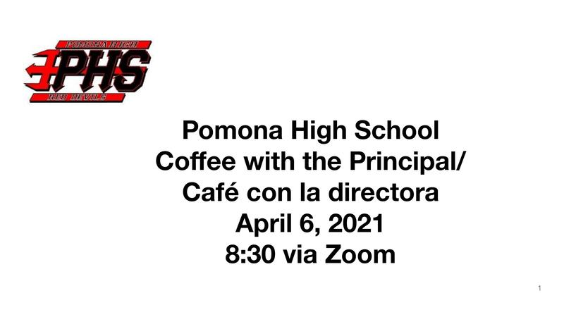 Coffee with the Principal - April 6, 2021