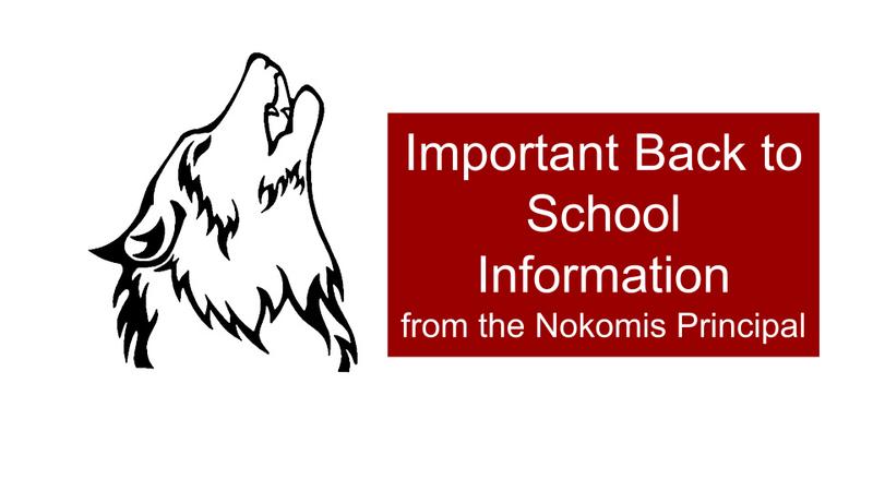 Back to School Announcement from the Nokomis Principal /  Comunicado de Regreso a Clase del Director de Nokomis Thumbnail Image