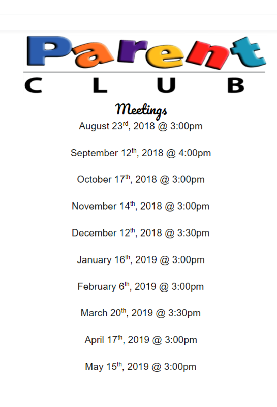 Parent Club 2019