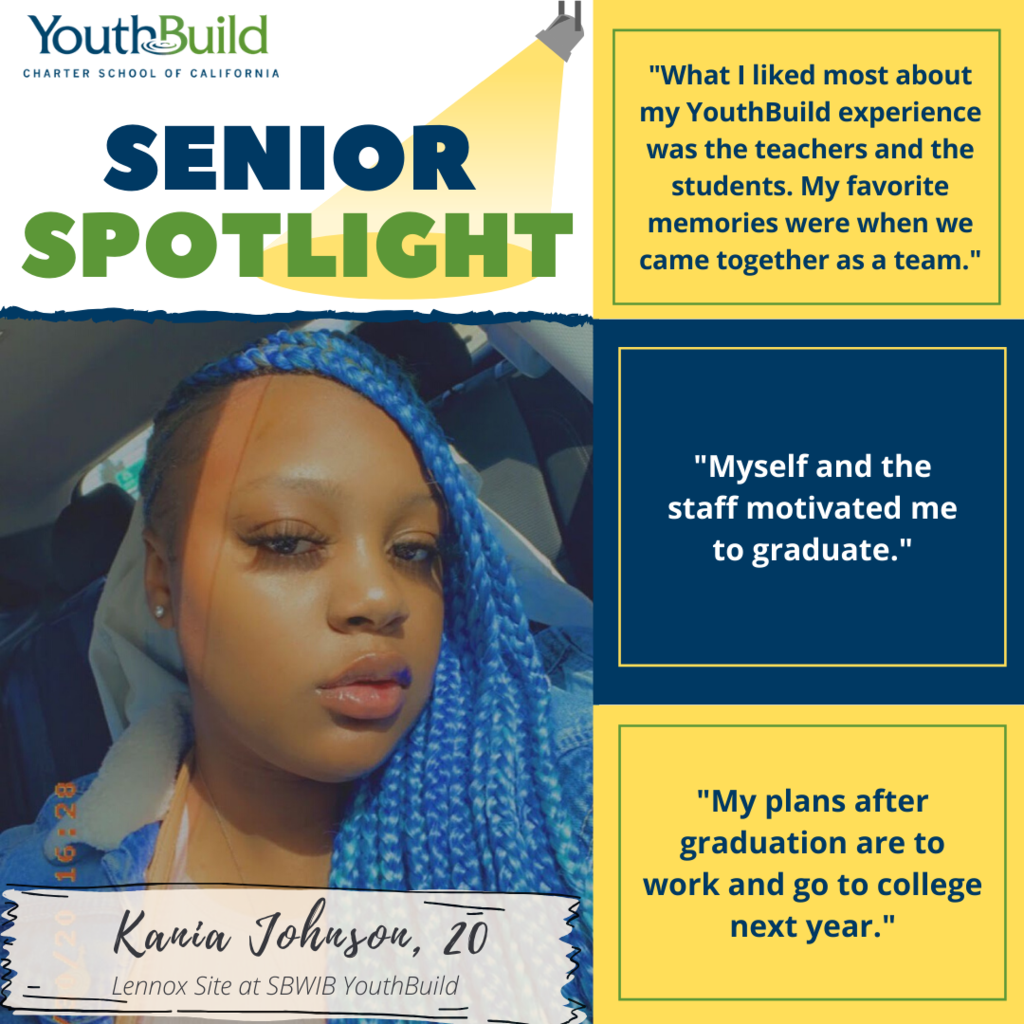 Senior Spotlight for graduate Kania Johnson