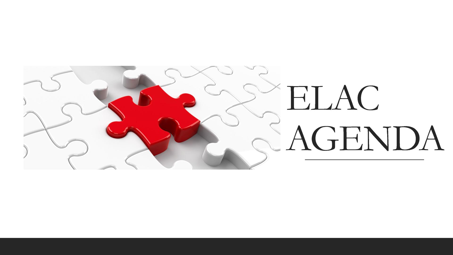 ELAC Agenda