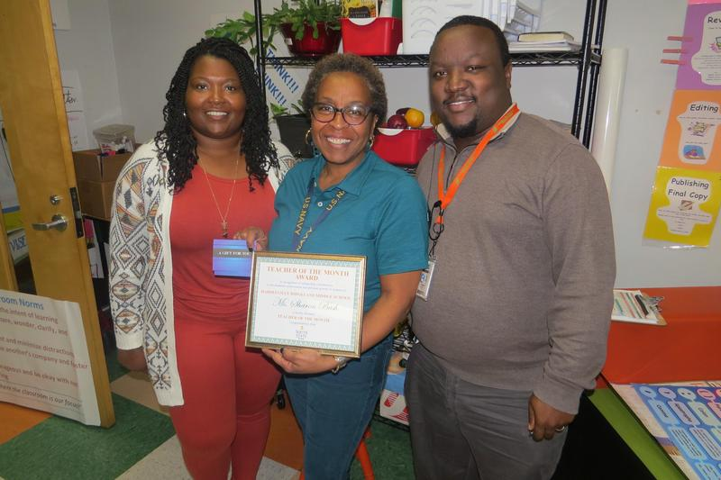 Sharon Bush Teacher of the Month