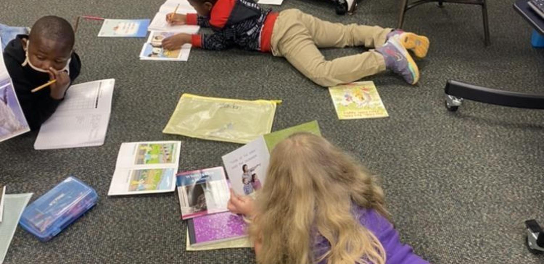 1st graders reading and writing