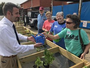 East Mississippi Master Gardeners donate a salad table to Southeast Elementary.