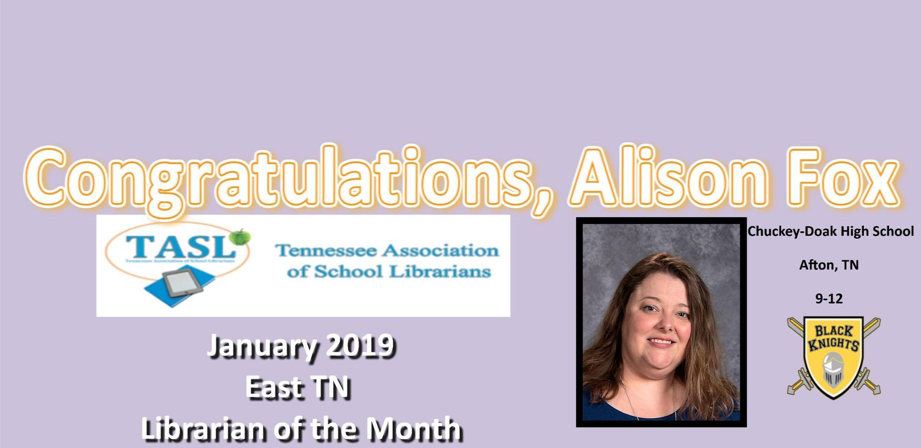 January Librarian of the Month