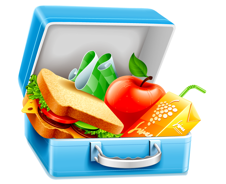 PIcture of Lunch Box: Sandwich , apples, banana